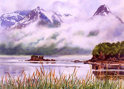 Glacier Alaska Painting - Coastal Mist by Sharon Freeman