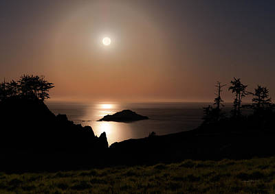 Photograph - Coastal Moon Dog by Leland D Howard