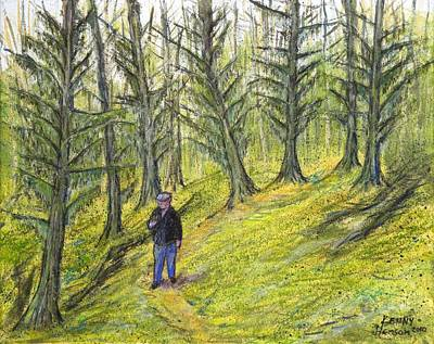Coastal Moss Art Print by Kenny Henson
