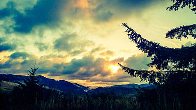 Coastal Mountain Sunrise IIi Art Print