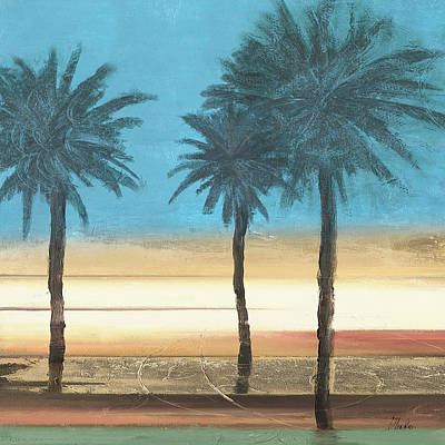 Coastal Palms II Art Print by Patricia Pinto