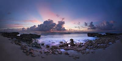 Coastal Panorama Art Print by Debra and Dave Vanderlaan