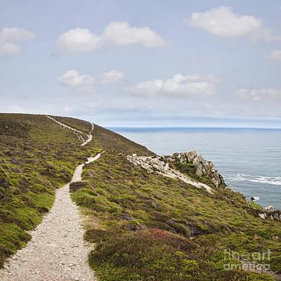 Coastal Path At Cap De La Chevre Crozon Peninsula Brittany France Europe Art Print