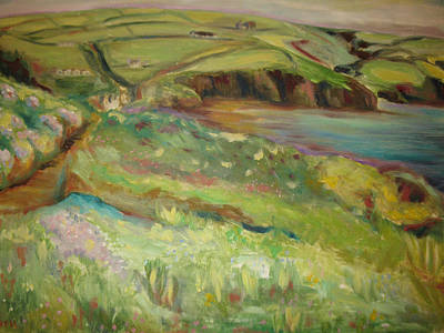 Painting - Coastal Path In Wales by Ellen Howell