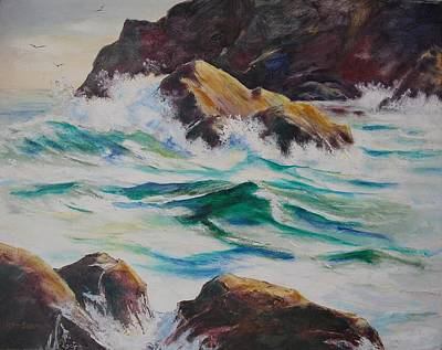 Coastal Rocks Art Print by John  Svenson