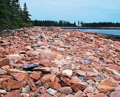 Coastal Rocks Original by Joy Nichols