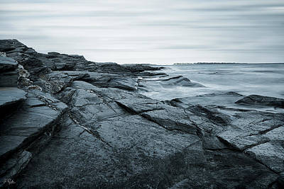 Coastal Rocks Print by Lourry Legarde