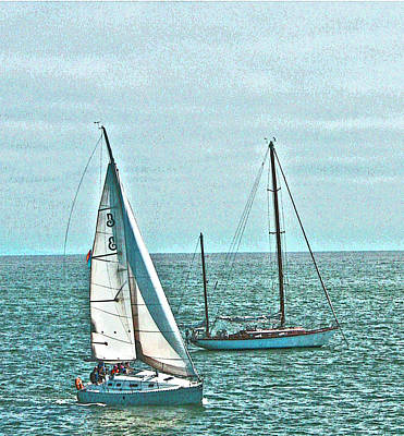 Coastal Sail Boats Art Print