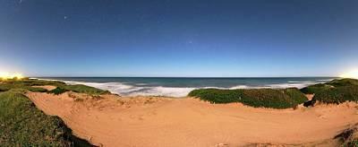 Moonlit Night Photograph - Coastal Sand Dunes by Luis Argerich