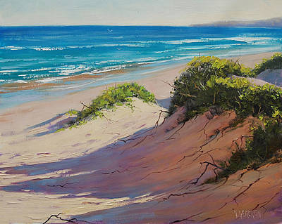 Entrance Wall Art - Painting - Coastal Sand by Graham Gercken