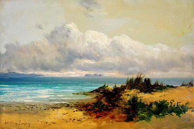 Sand Dunes Painting - Coastal Scene With Sand Dune by Celestial Images