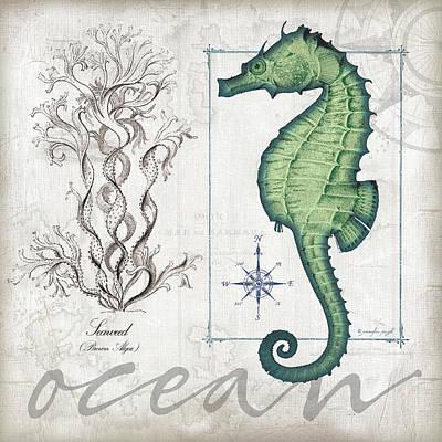 Coastal Seahorse Art Print