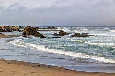 California Ocean Photograph - Coastal Serenity  by Heidi Smith