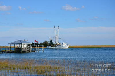 Photograph - Coastal Shrimper Scene by Bob Sample