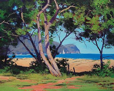 Central Coast Wall Art - Painting - Coastal Summer by Graham Gercken