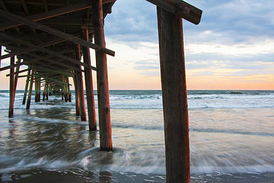 Photograph - Coastal Sunset At Oceanana Fishing Pier by Bob Decker