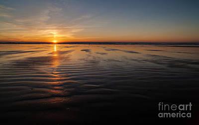 Photograph - Coastal Sunset Sandscape by Mike Reid