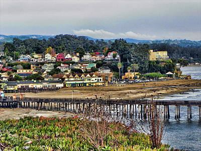 California Coastal Town Art Print by Kathy Churchman