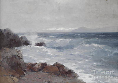 Orthodox Painting - Coastal View by Celestial Images