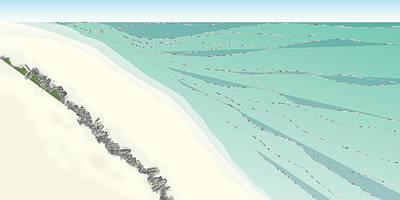 Coastal Wash Art Print by Kevin McLaughlin