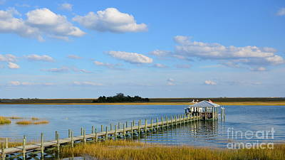 Photograph - Coastal Waterway Scene 16x9 Ratio by Bob Sample