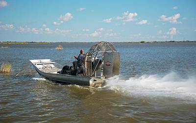 Hermitage Photograph - Coastal Wetlands Airboat by Jim West
