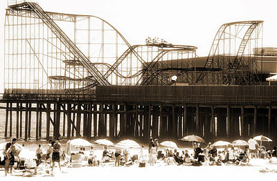 Seaside Heights Photograph - Coaster Ride by John Rizzuto