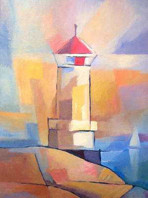 Lighthouse Painting - Coastguard by Lutz Baar