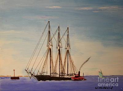Painting - Coasting Schooner Glendon by Bill Hubbard