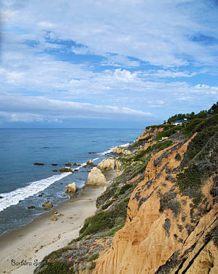 Photograph - Coastline At Malibu California 2 by Barbara Snyder