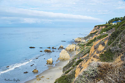 Photograph - Coastline At Malibu California 3 by Barbara Snyder