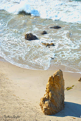Photograph - Coastline At Malibu California 5 by Barbara Snyder