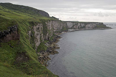 Redes Photograph - Coastline Carrick-a-rede Northern Ireland by Betsy Knapp