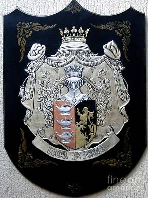 Metal Embossing Relief - Coat Duke Of Arbela by Cacaio Tavares