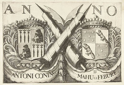Coat Of Arms Of Antoni Coning Mayor Of Haarlem And Mahu Le Art Print by Romeyn De Hooghe