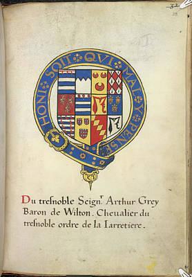 Coat Of Arms Of Arthur Grey Art Print