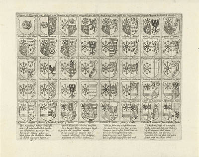Mirror Drawing - Coat Of Arms Of Cleves, Mark And Gulik, Anonymous by Mark And Gulik And Anonymous