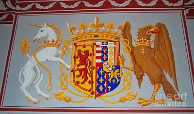 Coat Of Arms Of James II Art Print