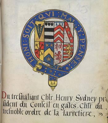 Coat Of Arms Of Sir Henry Sydney Art Print