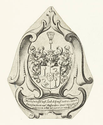 Family Coat Of Arms Drawing - Coat Of Arms Of The Family De Graeff, Johannes Lutma by Johannes Lutma I And Anonymous