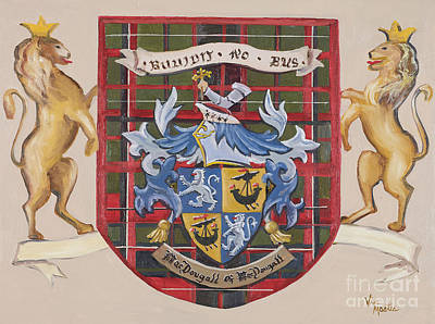 Painting - Coat Of Arms-painted by Vic  Mastis