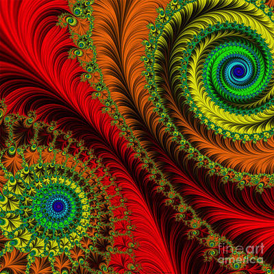 Baroque Digital Art - Coat Of Many Colors by Mary Machare