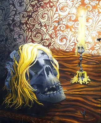 Grunge Skull Painting - Cobain by Nina Schmidtke