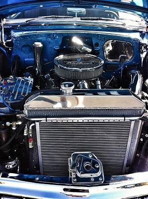 Photograph - Cobalt Blue Car Engine by Susan Garren