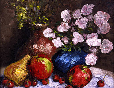 Susan L Richardson Art Painting - Cobalt Bowl by Susan Richardson