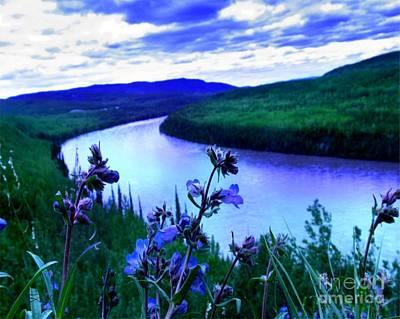 Painting - Cobalt River by Tlynn Brentnall