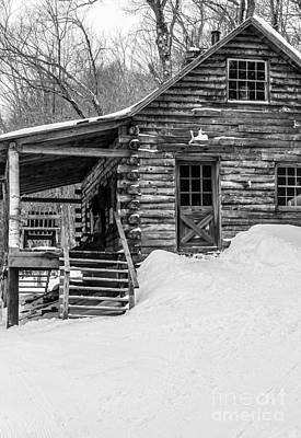 Shack Photograph - Slayton Pasture Cobber Cabin Trapp Family Lodge Stowe Vermont by Edward Fielding