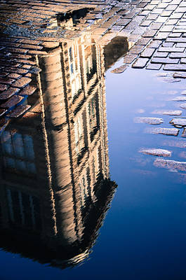 Photograph - Cobbled Reflection by Martin New