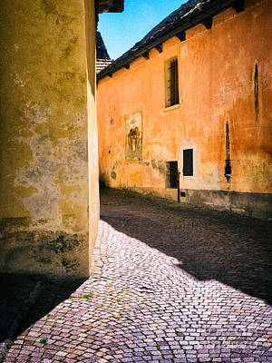 Photograph - Cobbled Street by Silvia Ganora