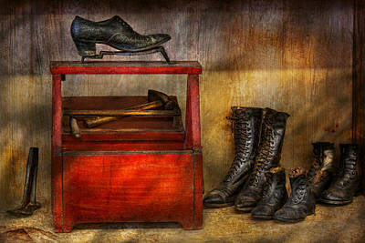 Cobbler - Life Of The Cobbler Print by Mike Savad